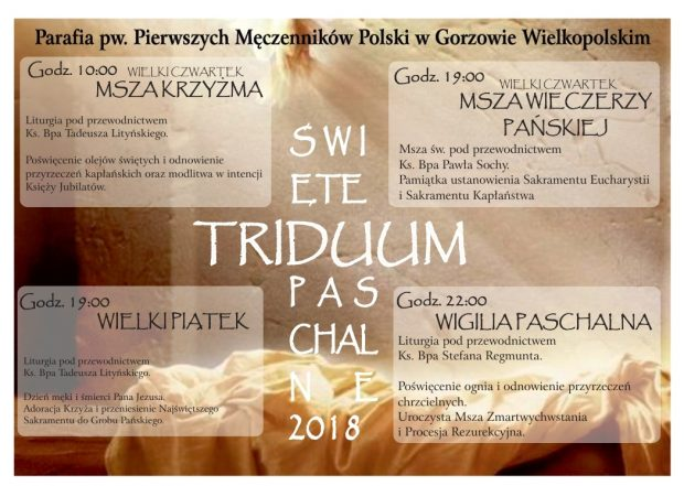 Święte Triduum Paschalne 2018