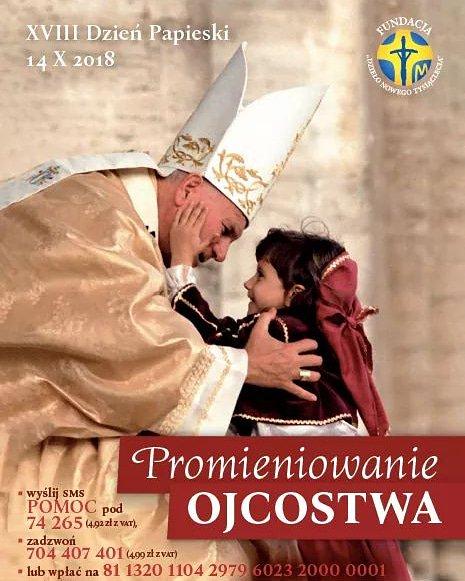 """List Konferencji Episkopatu Polski zapowiadający obchody XVIII Dnia Papieskiego pod hasłem """"Promieniowanie ojcostwa"""""""