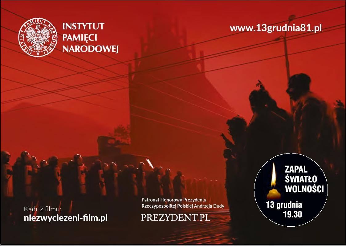 """Akcja społeczna """"Ofiarom Stanu Wojennego. Zapal Światło Wolności"""""""
