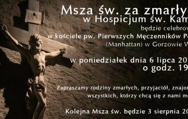 Msza św. za zmarłych w Hospicjum św. Kamila